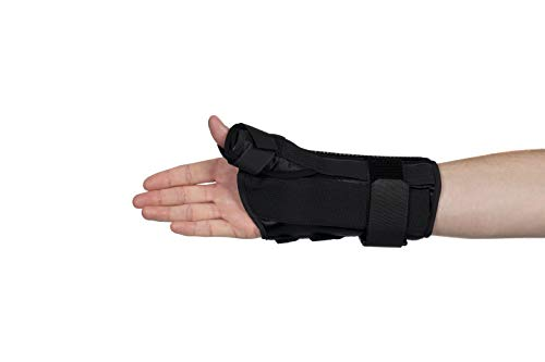 """FitPro Adjustable 8"""" Wrist and Thumb Spica Support With Removable Insert- Right, Small, Amazon Exclusive Brand"""