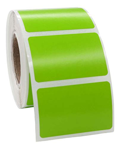 """12 Rolls; Green 1.5x1 Direct Thermal 520 Color Labels per Roll Compatible with Zebra/Eltron- 1.5""""x1"""" Labels (1-1/2"""" x 1"""") - BPA Free!"""