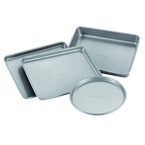Farberware 57775 Nonstick Bakeware Toaster Oven Set with Nonstick Baking Pans, Cookie Sheets and...