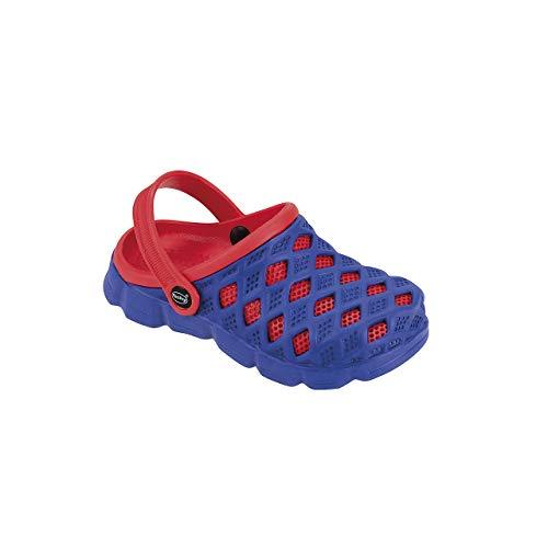 Fashy Clog Sephia, Kinder Badeschuhe, Farbe: blau-rot (Numeric_31)