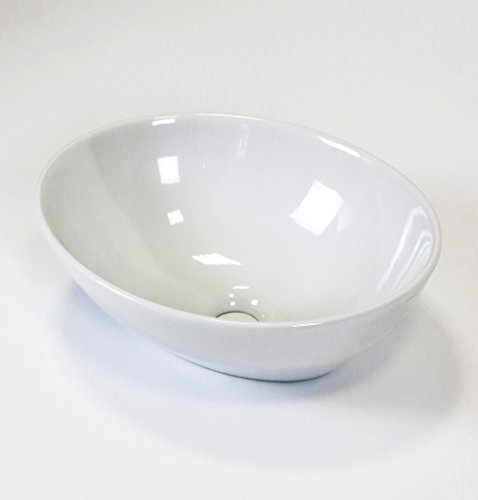 Scarabeo Ovo Aufsatzwaschtisch, weiß, 8011