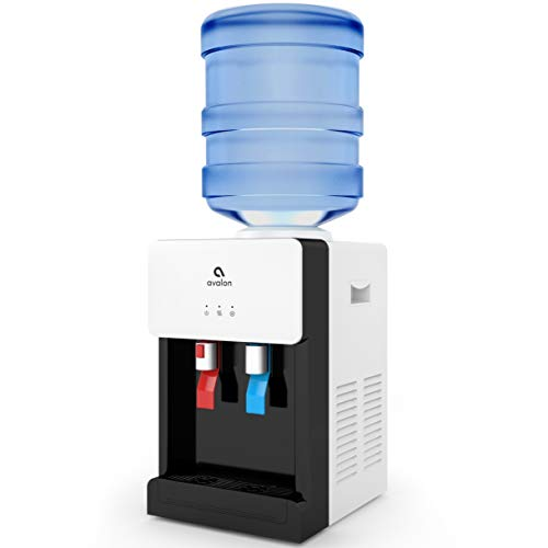 Product Image of the Avalon Premium Hot/Cold Top Loading Countertop Water Cooler Dispenser With Child Safety Lock. UL/Energy Star Approved- White - A1CTWTRCLRWHT
