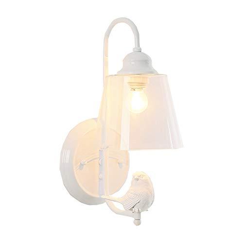 Lampada da parete idilliaca dell'uccello, lanterna decorativa minimalista nordica della parete, stanza dei bambini salone Camera da letto comodino ristorante applique da parete moderna