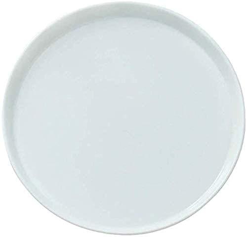 Platos de cena Juegos de cena Platos de pizza blancos Bandeja de pizza para horno Bandeja de pizza Plato de pizza de 11 pulgadas Molde para hornear de cerámica blanca pura Pastel Pasta Filet