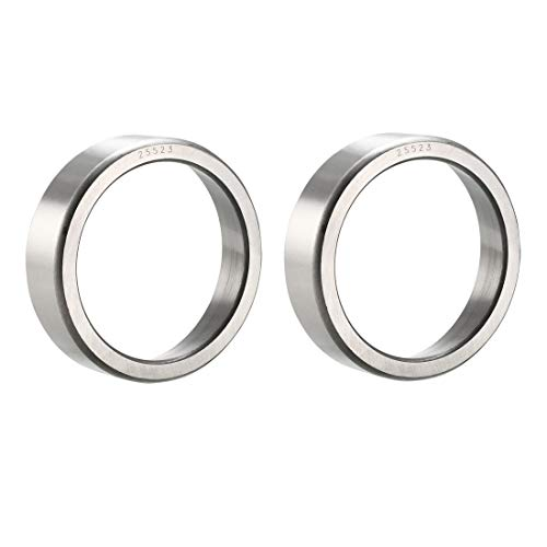 uxcell 25523 Tapered Roller Bearing Outer Race Cup 3.265 inches Outside Diameter, 0.875 inches Width 2pcs