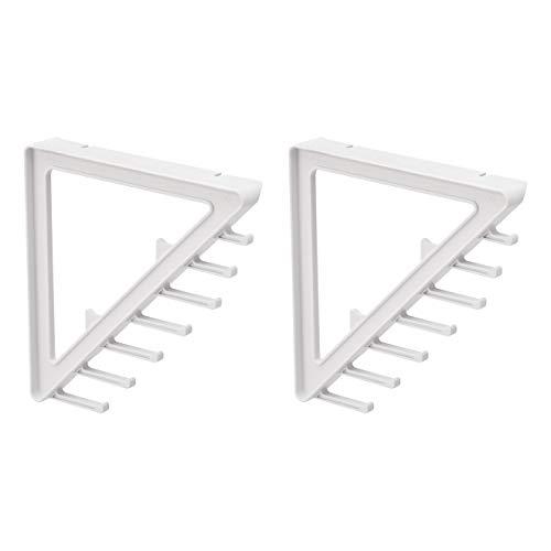 Amazon Basics Escuadra para armario con almacenamiento adicional en diagonal, pequeña, blanco (2unidades)