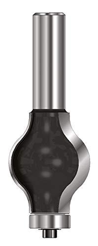 ENT 16800 Handlauf-Fräser Profil 3 HW (HM), Schaft (C) 12 mm, Durchmesser (A) 31,8 mm, B 38,1 mm, R1=9,5 mm, R2=12,7 mm, D 40 mm