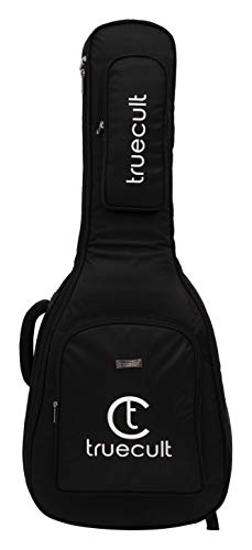 "True Cult Acoustic Guitar Bag/Cover with Foam Padding {Black} Strong and Durable for all sizes and shapes folk/classical guitars 38"", 39"", 40"", 41"""