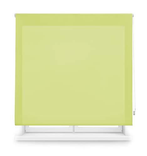 Blindecor Ara Estor enrollable translúcido liso, Verde pistacho, 100 x 175 cm, Manual