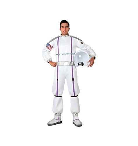 Atosa-17273 Disfraz Astronauta, color blanco, M-L (17273)