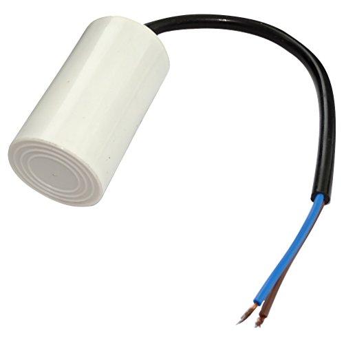 AERZETIX: Condensatore permanente di lavoro per motore 4µF 450V con cavo Ø34x64mm ±5% 3000h C18664