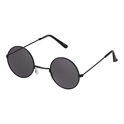 Ultra Pequeño Negro con Negro Lente Gafas de Sol Hombre Mujeres Retro Redondas Adulto Estilo Pequeñas John Lennon Gafas de Sol Mujer Gafas Sol Hombre Espejo Redondo Gafas Sol Clásicos UV400