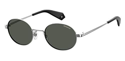 Polaroid Eyewear PLD 6066/S Occhiali da Sole, Silv Blk, 51 Unisex Adulto