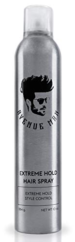 Extreme Hold Hair Spray For Men (10 oz) by Avenue Man Hair Products - Extra Firm Hold Hairspray with...