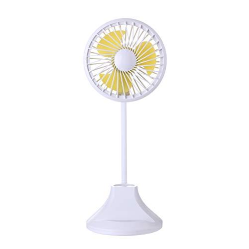Lampada da comodino a LED USB Mini Ventilatore da tavolo Lampada da scrivania Ventilatore muto ricaricabile Desk Fan portatile Lampada multifunzione per studio a casa (bianco)