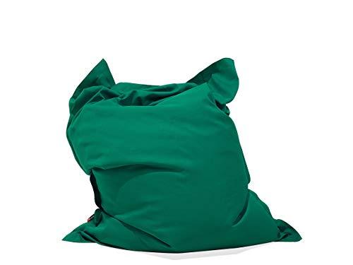 Beliani Praktisches, lustiges Sitzkissen Polsterbezug EPS Kugel 140x180 cm smaragdgrün
