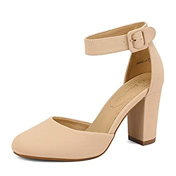 nude closed toe heels