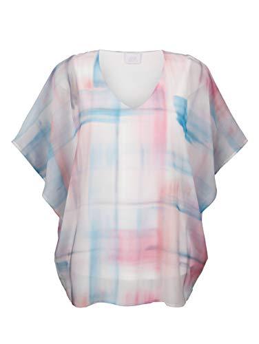 Alba Moda Damen Bluse Weiß 38 Kunstfaser