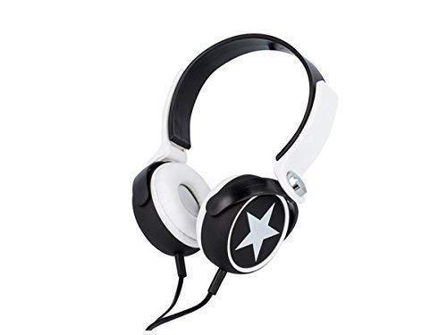 Headset on-ear hoofdtelefoon met kabel 3,5 mm jackplug/AUX microfoon HiFi-Stereo handsfree functie voor smartphone mobiele telefoon tablet