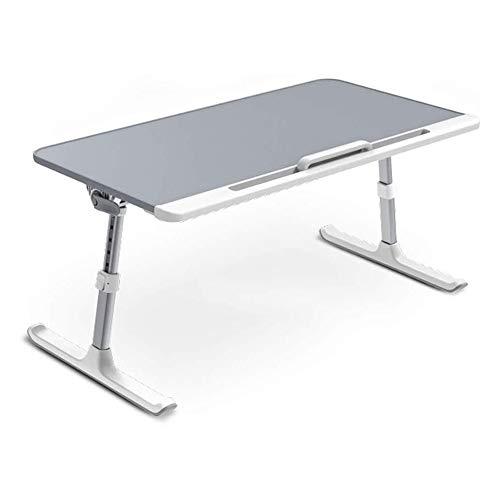 Mesa plegable para escritorio portátil de vuelta, soporte de lectura para cama y sofá altura y ángulo ajustable portátil