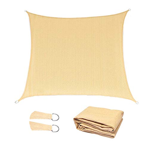 OZYN 100% Breathable Sun Shade Sail Rectangle Gazebo Moisture Proof Tent Cloth Camp Camping Mat Garden Terrace Canopy Swimming Hiking Yard Sail Awning (Color : Beige, Size : 1x3m)