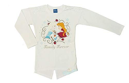 Robe Reine des Neiges Fille à Manches Longues 104 110 116 122 128 134 140 146 Coton Frozen Anna et Elsa Tshirt, Coton - Multicolore - 4 Ans