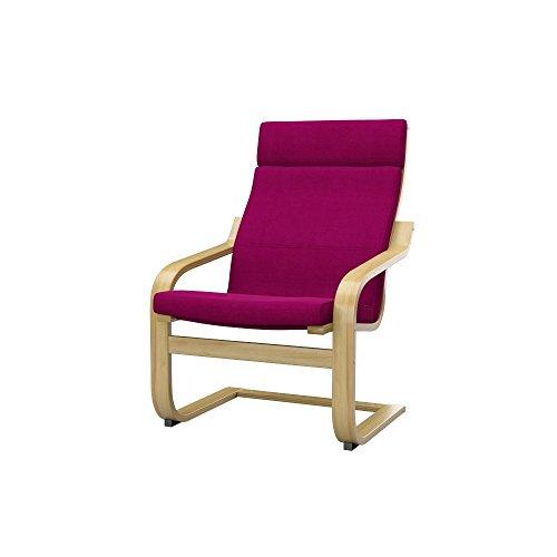 Soferia - IKEA POÄNG Funda para sillón, Elegance Dark Pink