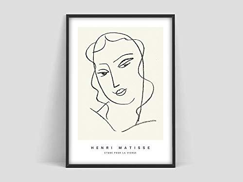 Henri Matisse Etude pour la vierge, Matisse Art Print, Matisse poster, Matisse Art Poster, lienzo sin marco W 30x40cm