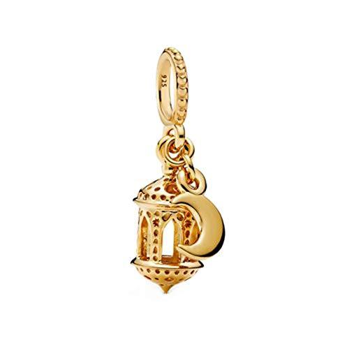 Pandora Jewelry Bracelet 925 Natural Lady Lady Gold Charm Cuentas de Plata esterlina Linterna árabe Dangle Charms Fit Original DIY Gifts para Mujeres