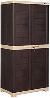 Alfa 2 Plastic Cabinet for Storage | Space Organizer | Shelves | Cupboard | Living Room | Kids | Multipurpose for Home Kitchen & Office
