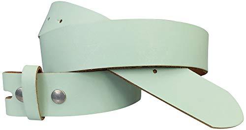 FRONHOFER Wechselgürtel 4 cm, Gürtel ohne Schnalle, Gürtel mit Druckknopf, echt Leder, 18267, Größe:Körperumfang 90 cm/Gesamtlänge 105 cm, Farbe:Pistazie