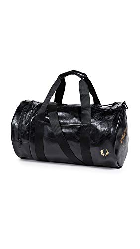 Fred Perry Authentics Classic Barrel Bag One Size BLACK GOLD