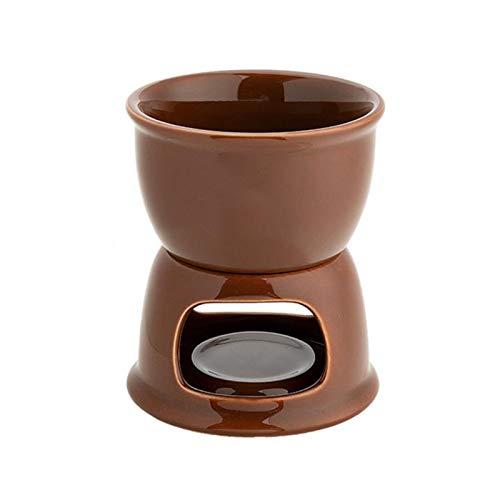 gilivableskr Neueste Schokoladenfondue Set Porzellan Schmelztiegel Fondue Becher Keramik Schmelztiegel für Hauskäse Schokolade und Tapas accepted