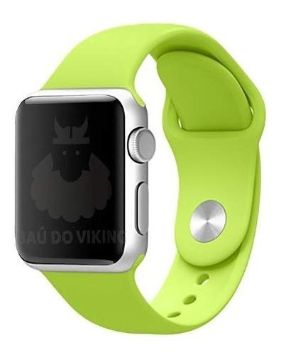 Pulseira Silicone Sport Esportiva, compatível com Apple Watch (Verde, 42mm Pequeno)