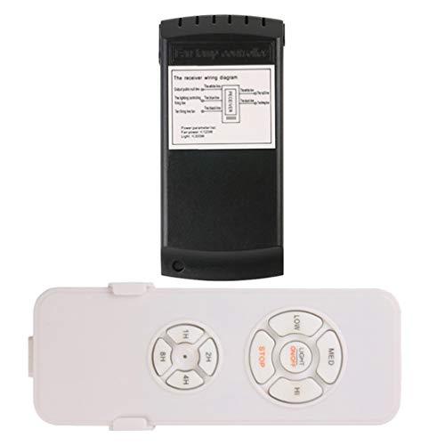 TOYMYTOY Ventilador de Techo Kit de Control Remoto Universal Ventiladores de Techo Luz Remota 90- 265V Control Remoto Inalámbrico Y Receptor para Lámpara de Ventilador de Techo sin Batería
