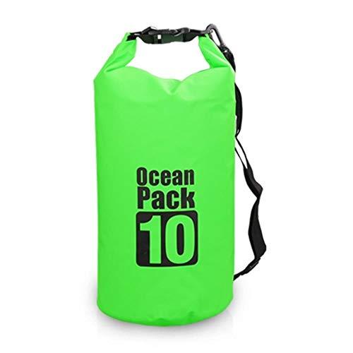 Extérieur étanche Sac à Dos Sec Sac Flottant de l'eau Sports Nautiques Roll Top Big Bag Kayak Rafting Aviron Randonnée, 10L