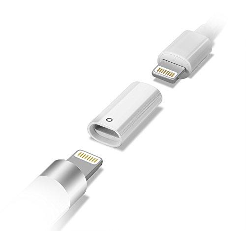 『LANMU 充電アダプタFor Apple pencil ライトニングUSBケーブル用変換アダプタ アップル ペンシル 専用』のトップ画像