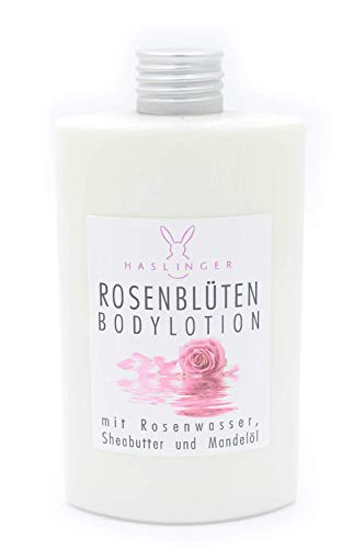 Haslinger Nr. 2904, Rosenblüten Bodylotion mit Rosenwasser, Sheabutter & Mandelöl 200ml