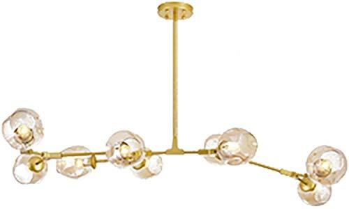 Molecules Sputnik Chandelier Copper Clear Glass Pantallas Colgando lámpara lámpara Chandelier E27 Vintage Industrial Ajustable Lámpara de techo Transparente 9 Luces