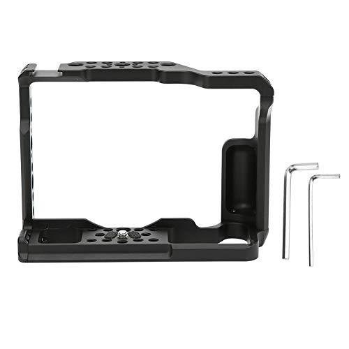 Hopcd Jaula de extensión de cámara, aleación de Aluminio de 1/4 \'\' y 3/8 \'\' Agujeros roscados Jaula de fotografía de Video Vlog para Fuji XT3 XT2 cámara sin Espejo