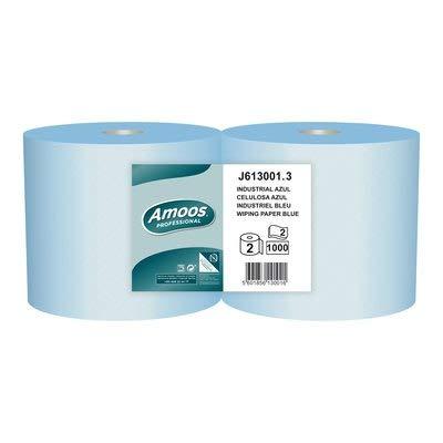 Pack de 2 rollos de Celulosa industrial Azul de 2 capas. Pap
