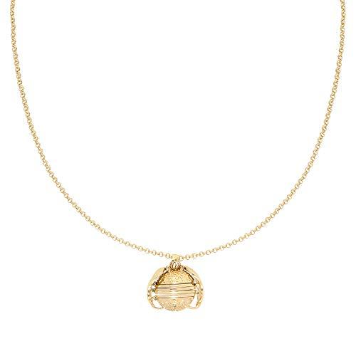 Yehwang opgericht in 2008 - Premium design dames modesieraad - vintage halsketting bal met engelenvleugel - Insert 4 foto's - medaillon hanger - Picture Perfectt