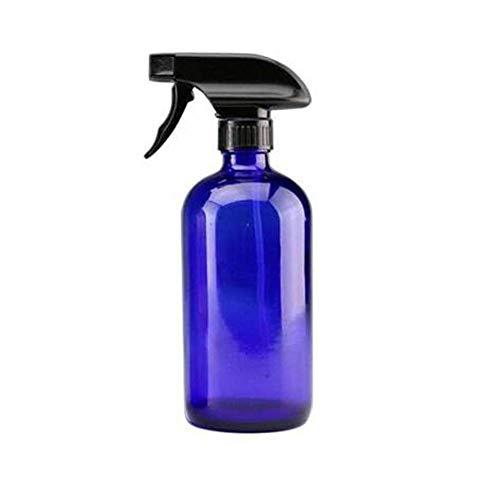 VASANA 1 botella vacía de 250 ml de cristal recargable con pulverizador negro para aceites esenciales y productos de limpieza caseros para aromaterapia., Blue (Azul) - YPK47515BLUE