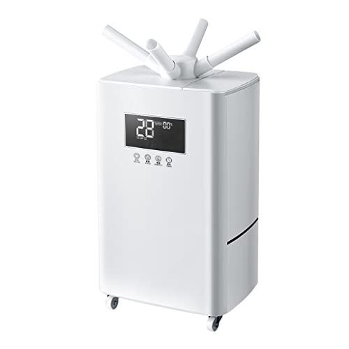 Atomizzatore Intelligente Silenzioso di Grande capacità da 15 Litri, umidificatore ad ultrasuoni Industriale Commerciale, Due testine di spruzzatura, temporizzazione/umidità costante/silenziosa
