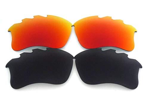 Lente de repuesto para gafas de sol Oakley Flak Jacket xlj ventiladas negro/rojo polarizado