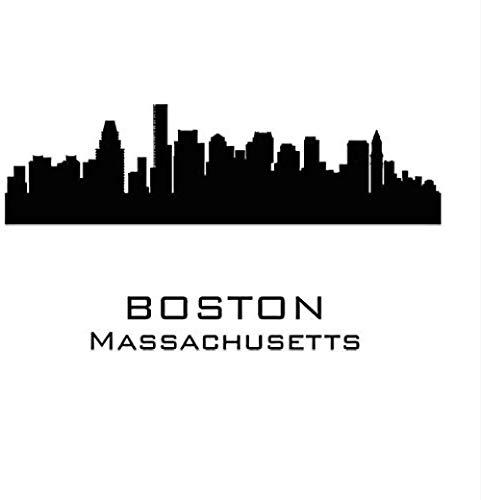 Muurstickers Art Decal Vinyl Murals Kinderen Slaapkamer Spel Boston Massachusetts Stad Ilhouette Slaapkamer Woonkamer Huis Waterdichte Lijm 78 * 44cm