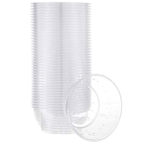 Plasticpro 6 oz Hard plastic Desert Bowls - Ice cream Bowls premium Quality Disposable Clear Bowl Pack of 50