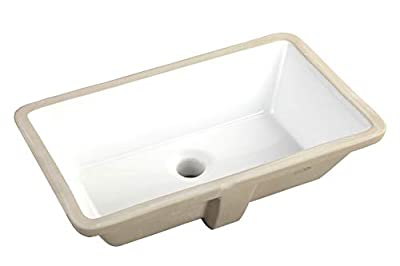 20.9 Inch Rectrangle Undermount Vitreous Ceramic Lavatory Vanity Bathroom Sink Pure White