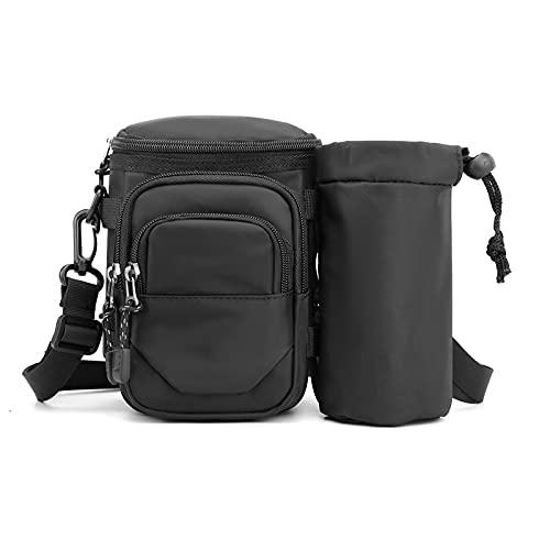 Bolsillos deportivos multifunción, bolsillos para hombre y mujer, bolsillos para correr, para montar a caballo, cinturón y hervidor de agua (color: negro)