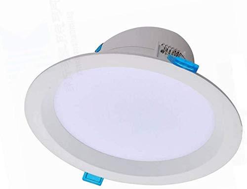 Panel Empotrado de 5 Pulgadas Luz de Techo LED ultrabrillante de 18 W con clasificación IC Luz empotrada hermética Tienda de Ropa Foco de Techo Integrado 6000 Luz Diurna Antideslumbrante Luminaria de